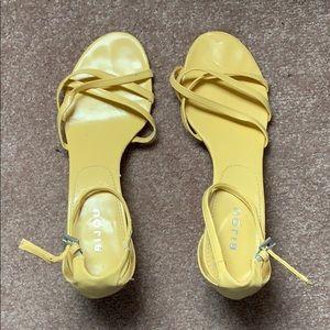 ✨ Yellow Wedge Heels